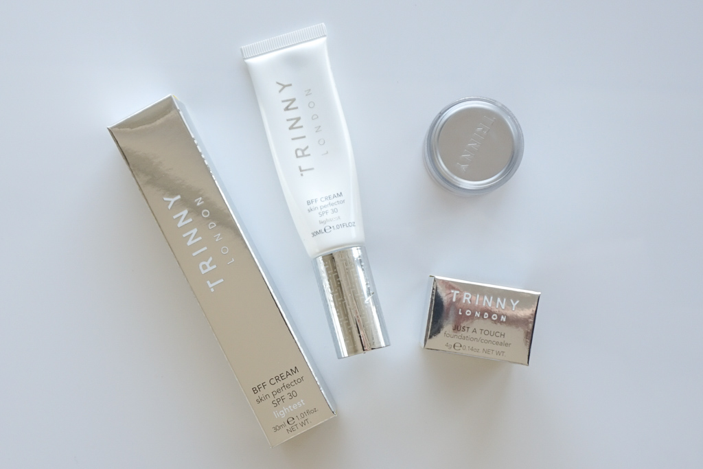 Trinny London BFF Cream Lightest Just A Touch Bambi review recenzia swatches