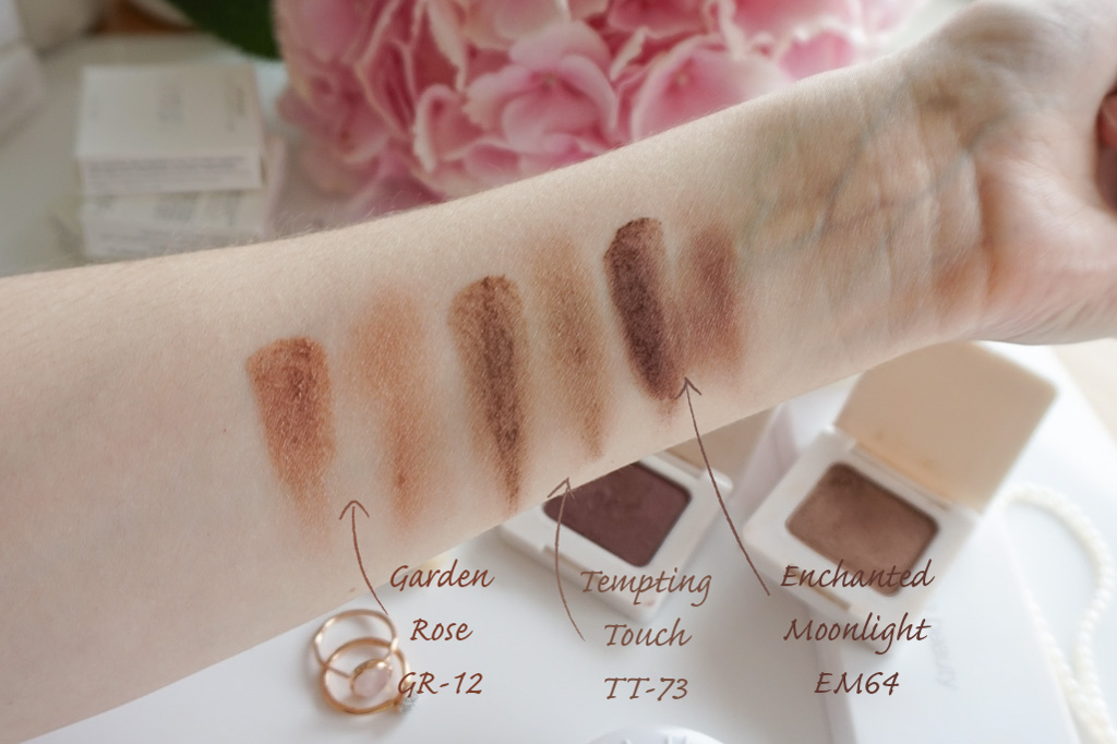 RMS Swift Shadows ocne tiene tempting touch TT-73 garden rose GR-12 enchanted moonlight EM-64 swatches review recenzia
