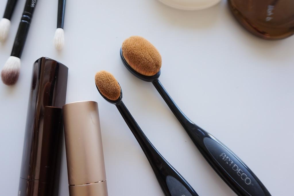 artdeco ovalne štetce recenzia na make-up