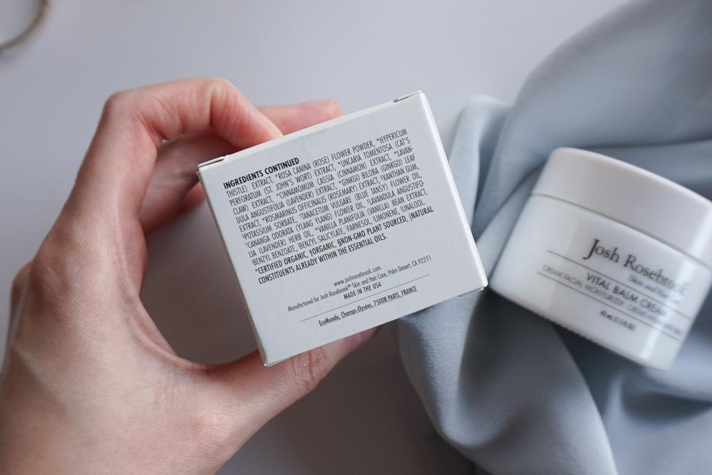 Josh Rosebrook Vital Balm Cream prirodny hydratacny krem blue tansy recenzia